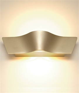 Wave Design LED Wall Washer in 4 Colours and 2 Sizes