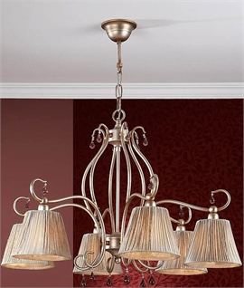 Aged Gold & Silver Shaded Double Wall Light
