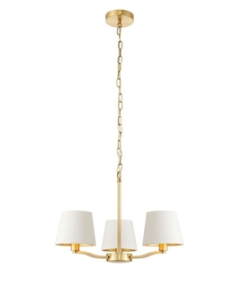 Brushed Satin Gold Chandelier with Shades