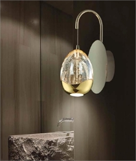 LED Bubble Wall Light - Gold or Chrome