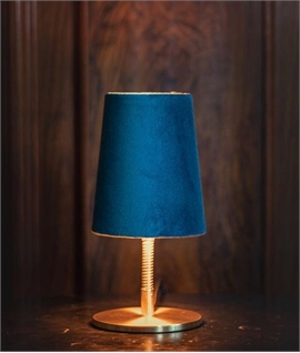 Flexible Stem Table Lamp with Velvet Shade H:250mm