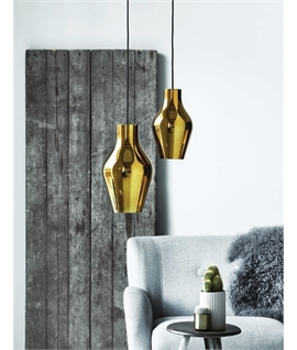 Dimmable Gold Glass LED Pendant - 2 Sizes