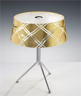 Cut Glass Metallic Foil Table Lamp