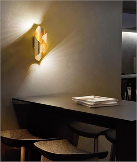 Metal Wrapped LED Wall Light - Two Finishes