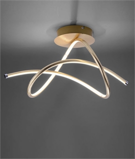 Modern Semi-Flush LED Swirled Light