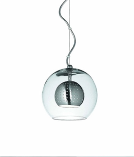 Larger Glass Ball Pendant 200mm - Definitely Hip & Trendy