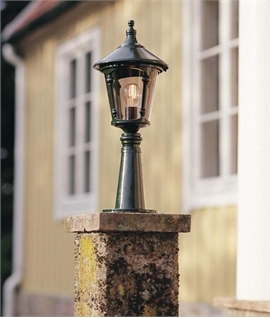 Traditional Lantern for Bollard or Wall with Optional Bases