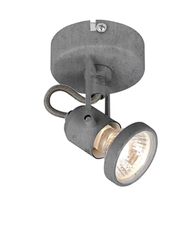 Single Adjustable Wall Light - Concrete