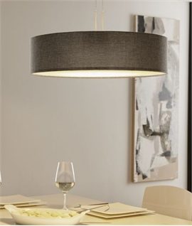 Modern Rise & Fall Pendant with Fabric Shade