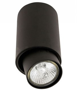 Aluminium Surface Mounted Adjustable Spotlight - Black