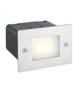 Stainless Steel Recessed LED Half Brick Light
