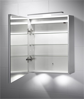 over cabinet lighting bathroom. led bathroom cabinet with over mirror light 600mm x 500mm lighting o
