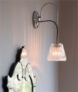 Bathroom Hanging Wall Light & Prismatic Glass