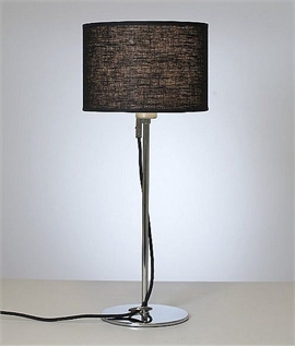 Chrome & Fabric Shaded Table Lamp - Belid
