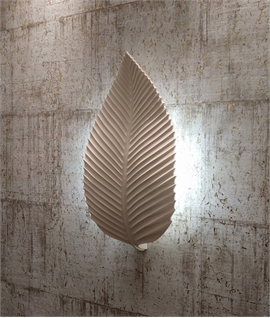 Leaf High Quality Plaster Wall Light H:555mm