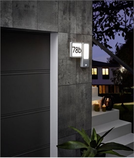 Aluminium Backlit House Number with Twilight & PIR Sensor