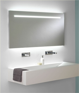 Wide Bathroom Illuminated Mirror