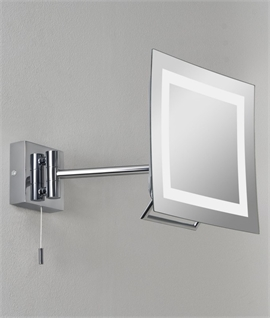 Square IP44 Vanity Mirror with Halogen Lamp