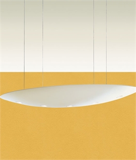 Extra Wide Suspended Plaster Pendant W:1760mm