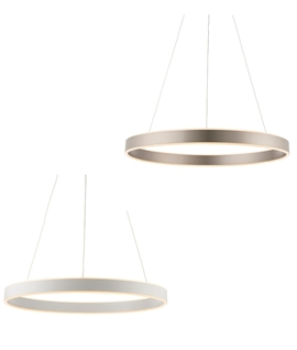 Circular Ring LED Pendant - 600mm & Dimmable