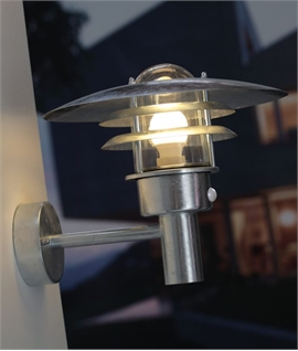 Large Vaned Low Glare Wall Light with PIR