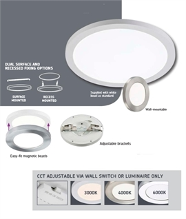 LED CCT Oversize Downlight - Cover Holes from 55mm to 250mm