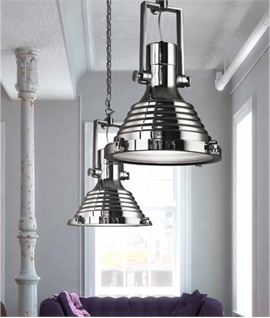 Oversize Marine Style Pendant in Polished Chrome