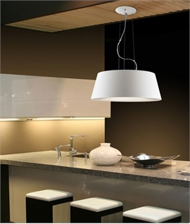 Lacquered White Steel Large Pendant Dia 480mm