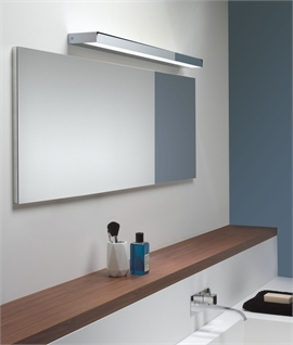 Diffused bathroom over mirror led light 640mm wide polished chrome led over mirror light polished chrome mozeypictures Gallery