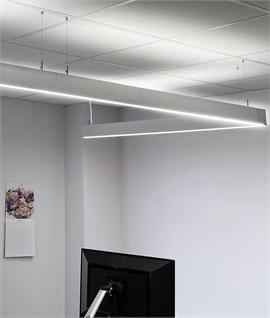 Slim & Sleek Suspended LED Linear Module - Easily Linkable For A Continuous Profile.