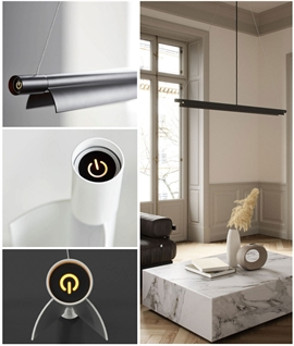 Linear LED Pendant with Built-In Dimmer Switch