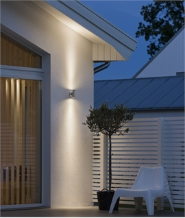 Piston-Design Up & Down LED Exterior Wall Light - 3 Sizes