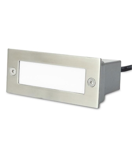 Stainless Steel Recessed Brick Light - IP54