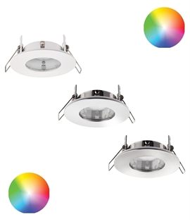 Shallow Round Colour Changing Fire Rated Downlight - IP65