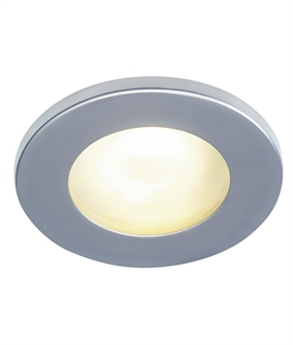 12v IP65 Round Frosted Glass Downlight - Silver