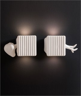 Up and Down Ceramic LED Wall Light - Legs and Head