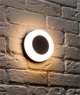 Aluminium Halo Wall Light & Magnetic Plate - IP54