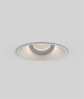 Low Glare Downlight with Angled Lamp holder - Black or White