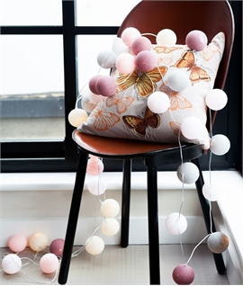 Marshmallow Hues String & Ball Lights