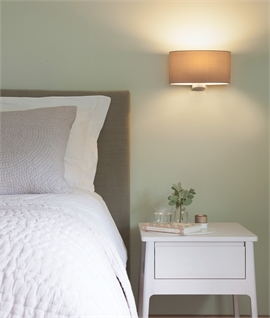 Contemporary Shaded Bedside Light