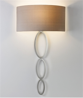 Triple Scroll Shallow Profile Wall Light - Shaded