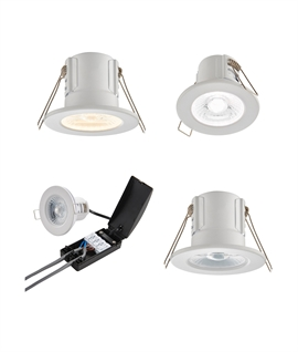 Matt White LED IP65 Fire Rated Downlight