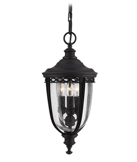 Black Traditional Chain Lantern