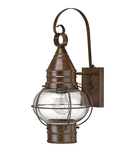 Old Brass Fishermans Hanging Wall Lantern