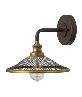 Pipe Stem Wall Bracket Light with Mesh Shade