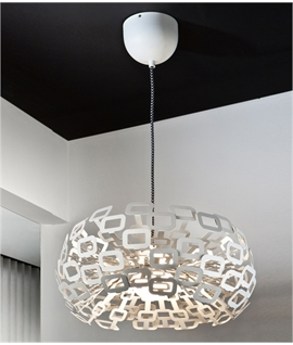 LED White Metal Retro Pendant
