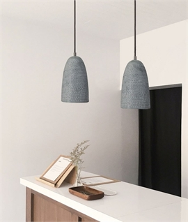Grey or Copper Metal Punctured Pendant