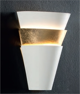 Ultra modern lights beautiful unusual lighting styles layered funnel shape wall light gold leaf detail aloadofball Images