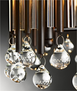 Showstopper Metallic Long Drop Pendant 3.7m