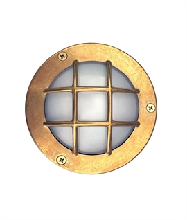 Solid Brass Miniature G9 Bulkhead Light